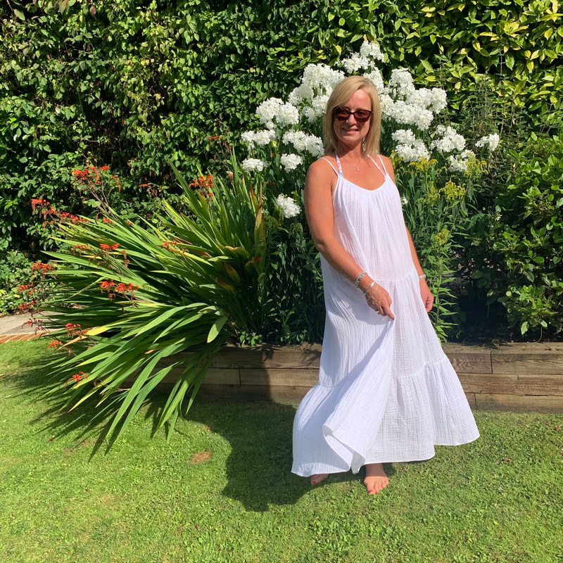 white summer dress, 50 and fab