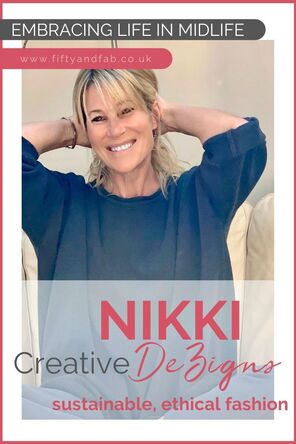 Nikki from Creative DeZigns, UK based ethical clothing brand