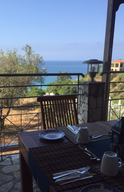 breakfast view in kefalonia