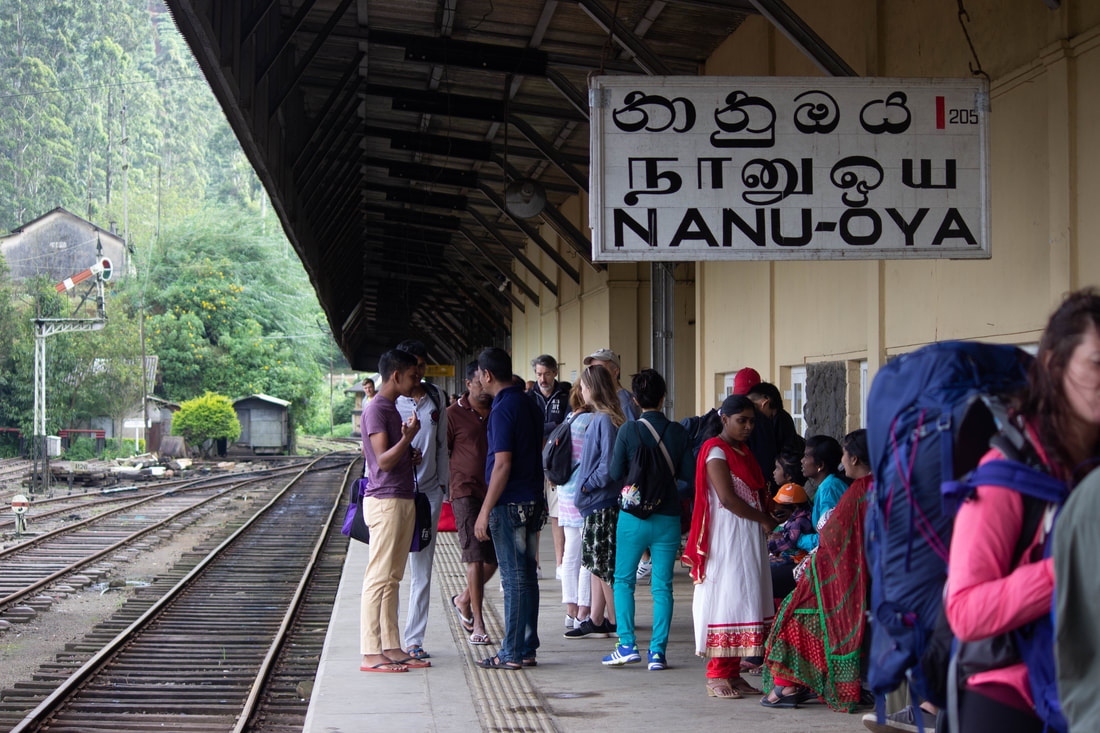 Nanu-Oya train station in sri lanka