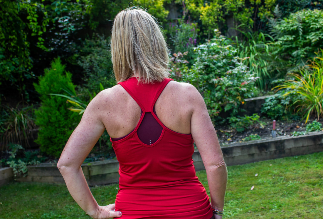 asquith bamboo workout top from back