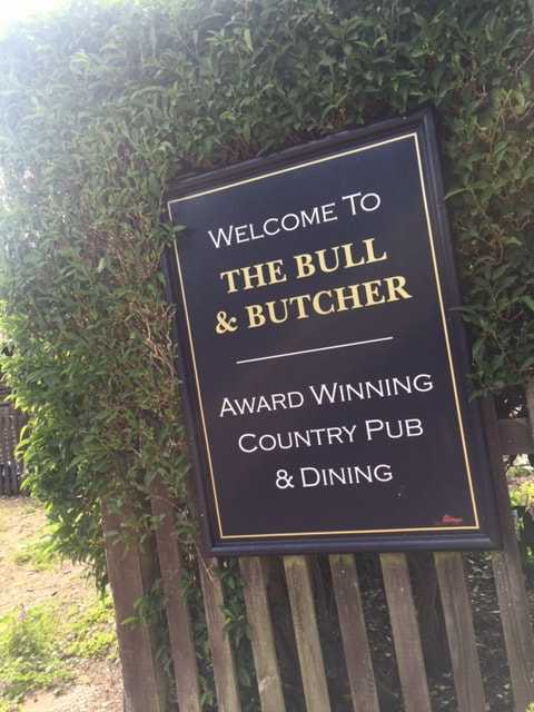 the bull and butcher pub sign in Turville