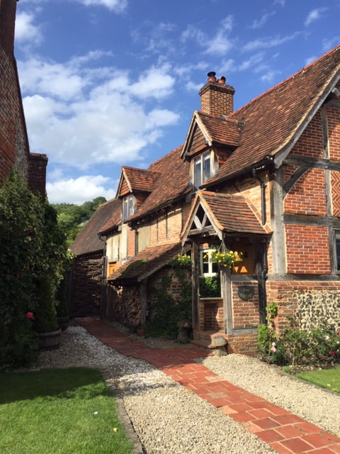 old house in the village of turville in buckinghamshire