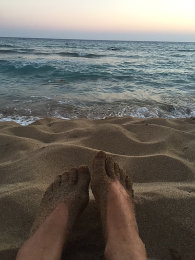 feet on beach kefalonia