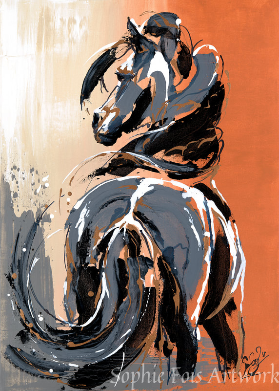 limited edition print of horse by sophie fois
