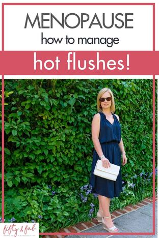 Want to know how you can help manage hot flushes when menopausal? My post gives some suggestions to make life more comfortable when you're going through the menopause #menopause #over50s
