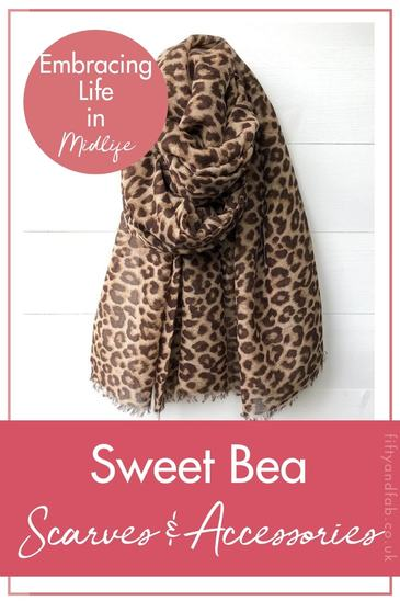 Sweet Bea scarves and accessories - Kate tells us why she's embracing life in midlife with her accessories business #midlife