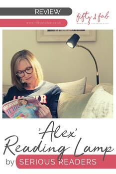Review - 'Alex' reading lamp from Serious Readers #homedecor #interiors #reading