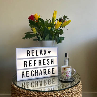 autumn planning, relax, refresh and recharge
