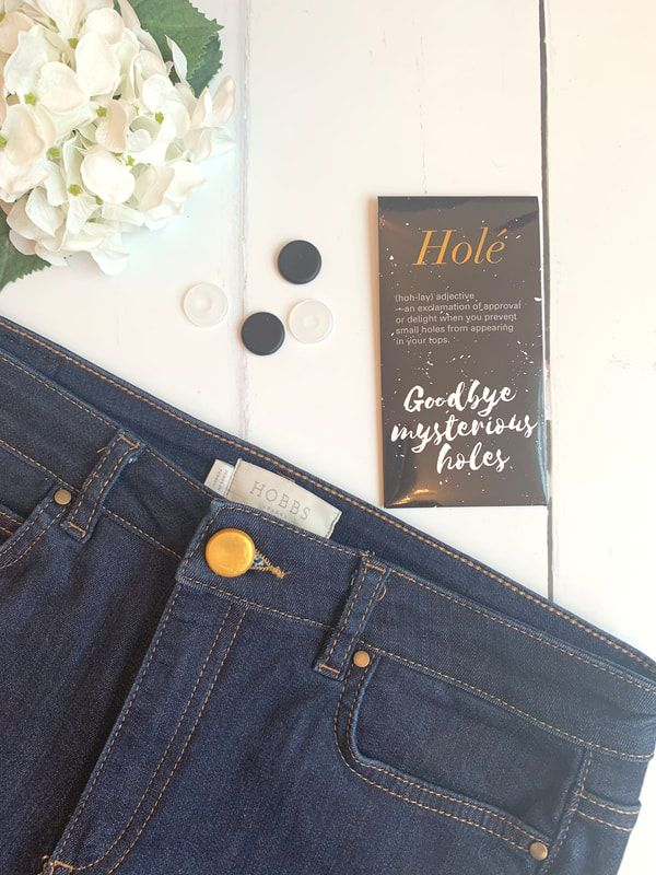 jeans from hobbs | small holes in t-shirts | button covers